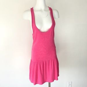 Juicy Couture | Chenille Pink Drop-waist Dress